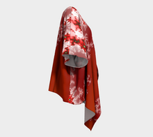 Load image into Gallery viewer, #fractalwraps Red Ice White 2 Custom Draped Kimono