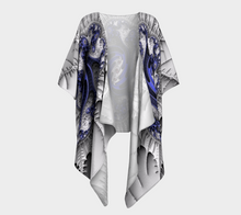 Charger l'image dans la galerie, Fractal Wraps Blue Ice Queen 2 Custom Draped Kimono by Fractal Attraction