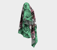 Load image into Gallery viewer, Fractal WRAPS Unique Green Custom Draped Kimono