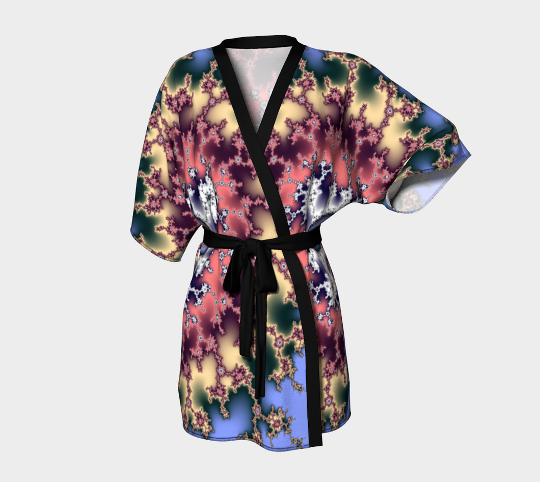 #fractalwraps Regal Gold Purple Custom Kimono Robe