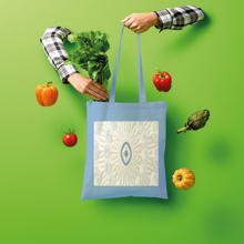 Load image into Gallery viewer, Blue White Cloud Shopper Tote Bag