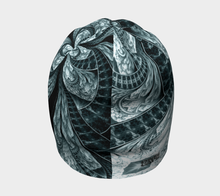 Load image into Gallery viewer, #fractalcaps Knight Teal Beanie Eco-Poly/Spandex w/ Bamboo Rayon