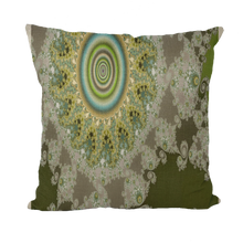 Load image into Gallery viewer, #fractalhouse Olive Solar Throw Pillows