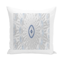 Load image into Gallery viewer, #fractalhouse Blue White Cloud Throw Pillows