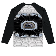 Load image into Gallery viewer, Soothe Blues #fractalfashion Baseball Long Sleeve T-Shirt