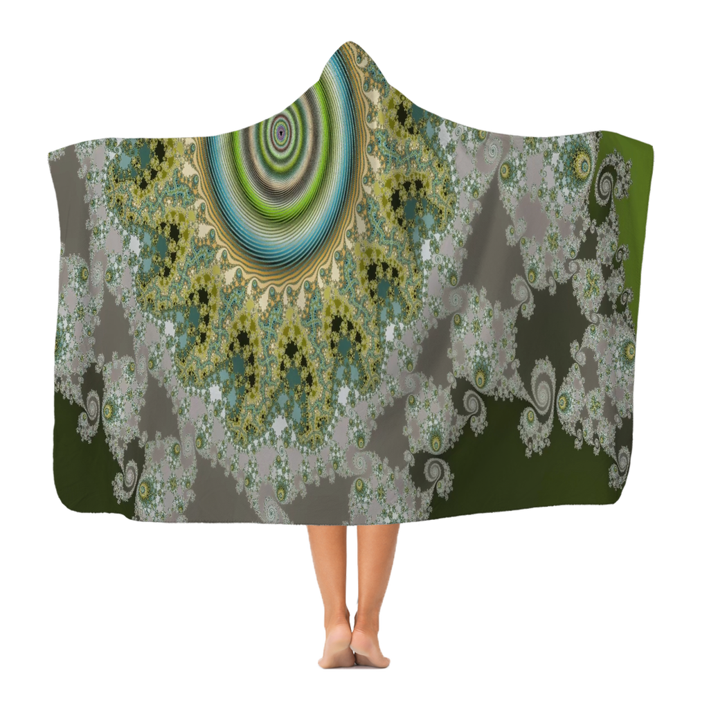 #fractalhouse Olive Solar Classic Adult Hooded Blanket