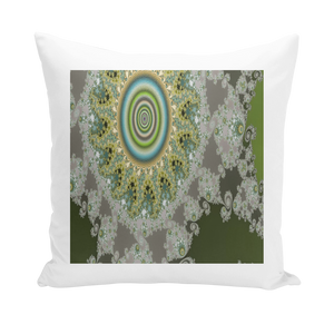 #fractalhouse Olive Solar Throw Pillows