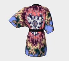 Load image into Gallery viewer, #fractalwraps Regal Gold Purple Custom Kimono Robe