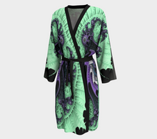 Load image into Gallery viewer, #fractalwraps Ice Green Queen Peignoir Custom Kimono Robe
