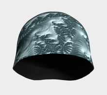 "Load image into Gallery viewer, FAB Alchemy Teal ""Fractal CAPS"" Beanie w/ Bamboo Rayon Liner"