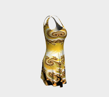 Charger l'image dans la galerie, #fractalfads Yellow Satin Flare Dress