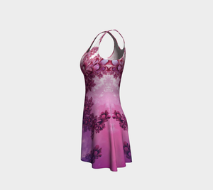 #fractalfads Pink Meadow Flare Dress