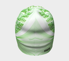 Load image into Gallery viewer, #fractalcaps Fluid Lime Green Beanie Eco-Poly/Spandex w/ Bamboo Rayon