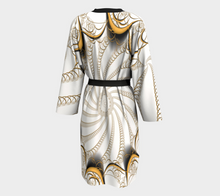Load image into Gallery viewer, #fractalwraps Gold Ease Custom Peignoir Robe