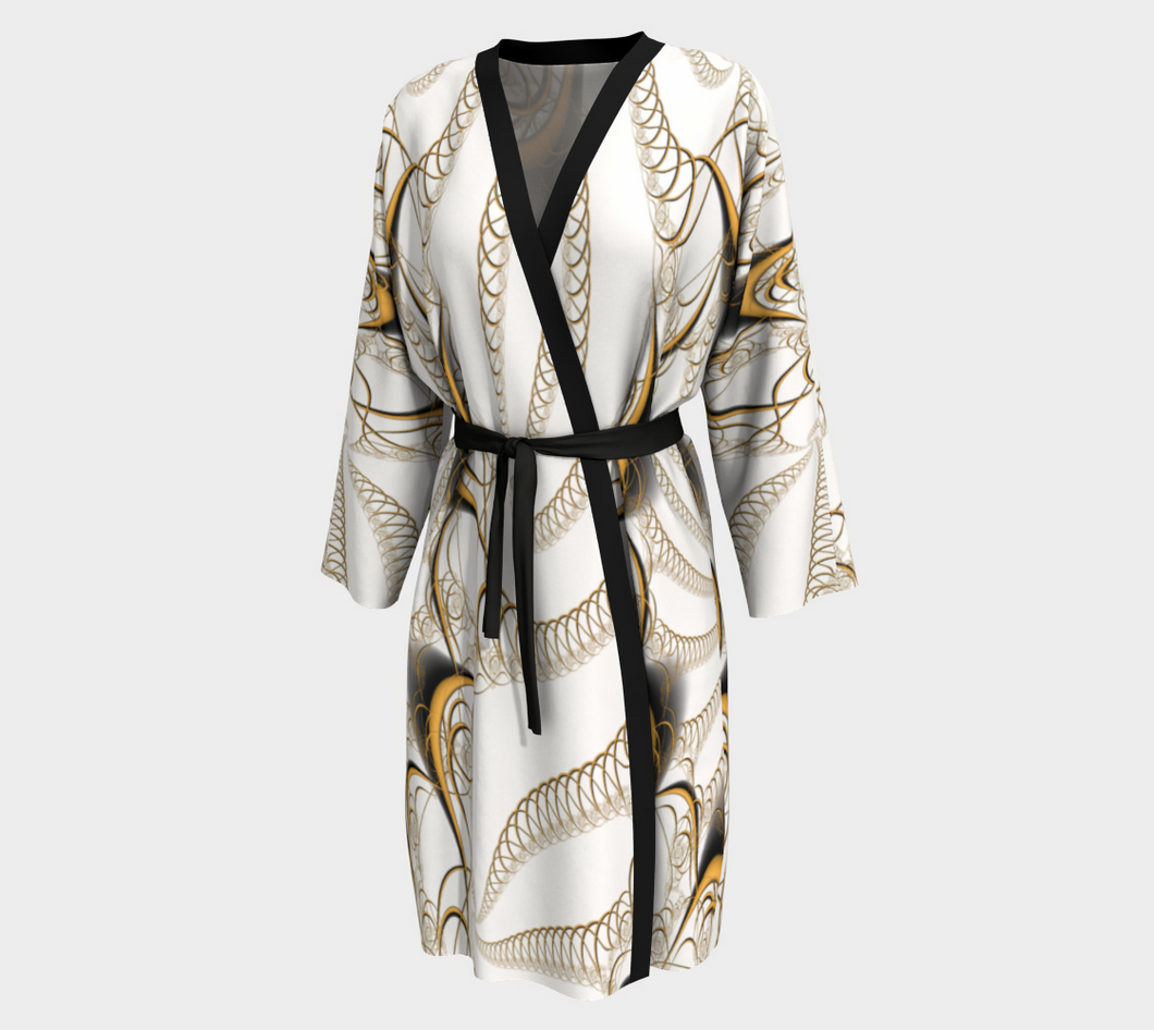 #fractalwraps Gold Ease Custom Peignoir Robe