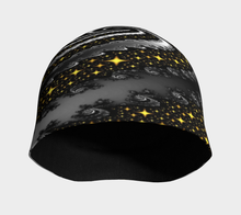 Load image into Gallery viewer, #fractalcaps Spiral Night Sky Peace Beanie Eco-Poly/Spandex w/ Bamboo Rayon