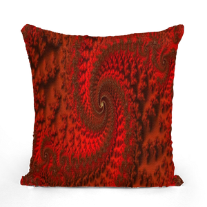 Red Roads #fractalhouse Sequin Cushion Cover