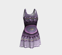 Load image into Gallery viewer, #fractalfads Lilac Spring Flare Dress