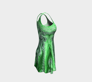 #fractalfads Lime Sherbert Flare Dress