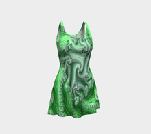 Load image into Gallery viewer, #fractalfads Lime Sherbert Flare Dress