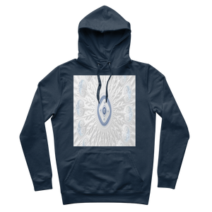 Blue White Cloud Premium Adult Hoodie