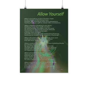 "Reality Rhymes ""Allow Yourself"" Poster (2 Sz)"