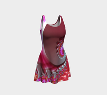 Load image into Gallery viewer, #fractalfads Pink Paradise Flare Dress