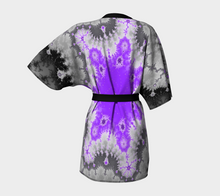 Load image into Gallery viewer, #fractalwraps Grey Lav Allure Custom Kimono Robe