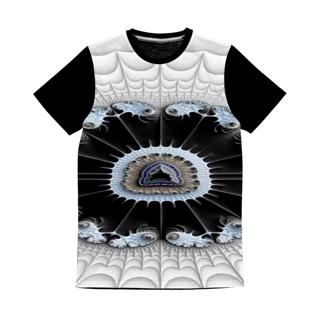 Soothe Blues #fractalfashion Sublimation Panel T-Shirt