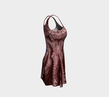 Load image into Gallery viewer, #fractalfads Red Fusion Flare Dress