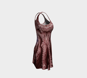 #fractalfads Red Fusion Flare Dress
