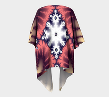 Load image into Gallery viewer, #fractalwraps Rose Diamond Custom Draped Kimono