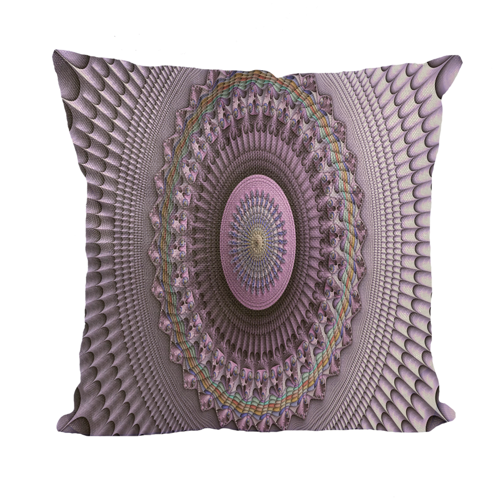 #fractalhouse Mindscape Purple Throw Pillows