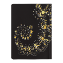 Load image into Gallery viewer, #fractalpads Gold Moons Paperback Journal