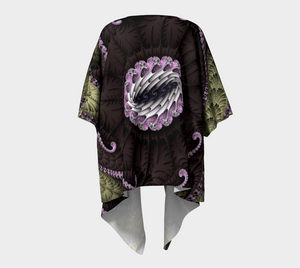 Fractal WRAPS Unique Chocolate Custom Draped Kimono