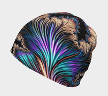 "Load image into Gallery viewer, FAB Beauty Tan ""Fractal CAPS"" Beanie w/ Bamboo Rayon Liner"