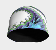 "Load image into Gallery viewer, FAB Aqua Groove ""Fractal CAPS"" Beanie w/ Bamboo Rayon Liner"