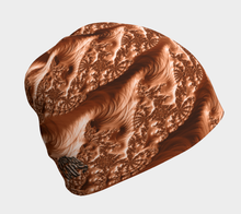 "Load image into Gallery viewer, FAB Alchemy Copper ""Fractal CAPS"" Beanie w/ Bamboo Rayon Liner"