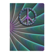 Load image into Gallery viewer, #fractalpads Green Spiral Paperback Journal