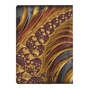 #fractalpads Gold Wine Paperback Journal
