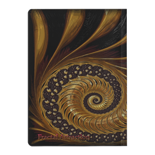 Load image into Gallery viewer, #fractalpads Divine Gold Spiral Paperback Journal