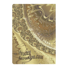 Load image into Gallery viewer, #fractalpads Regal Gold Paperback Journal