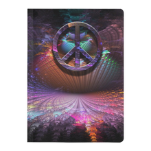 Load image into Gallery viewer, #fractalpads Purple Fountain Paperback Journal