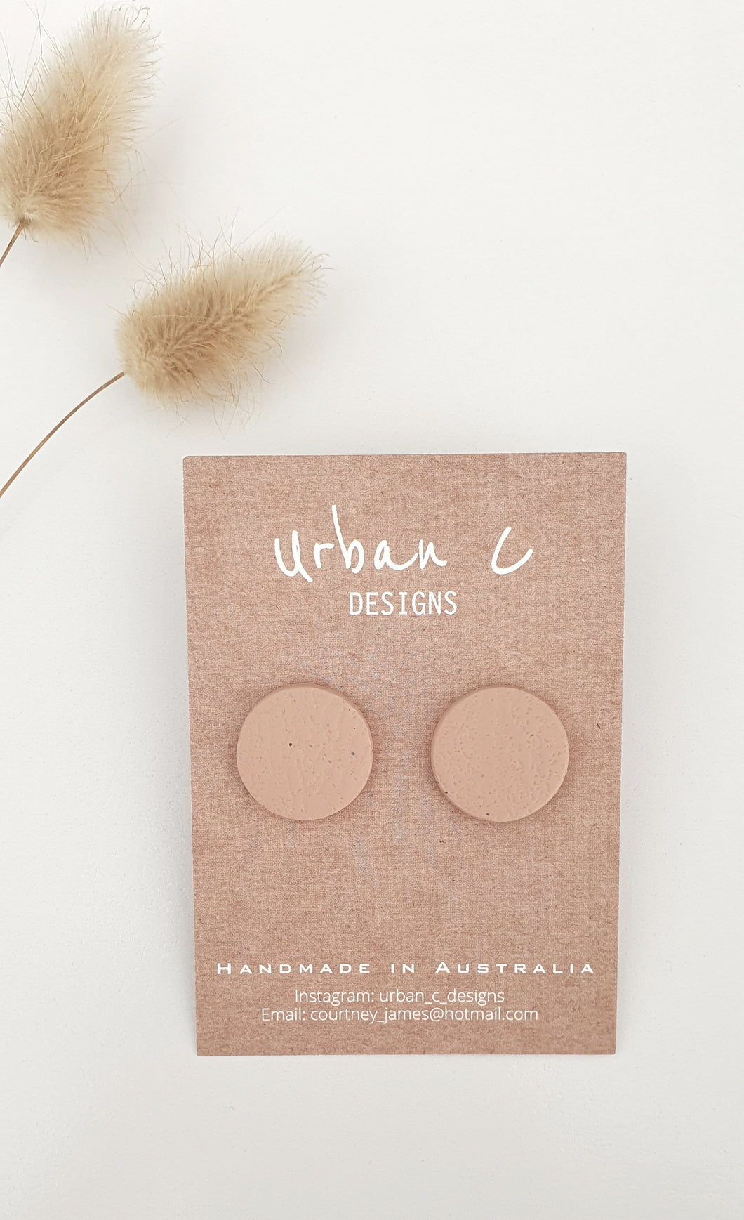 URBAN C DESIGNS - NUDE TEXTURED STUDS