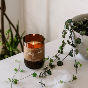 Vibrant | Uplifting | Herbaceous | Fresh  The Wandering Craftsmen promote and encourage a sustainable future, creating handmade recycled 100% pure wax candles that may be enjoyed by many but impact few.