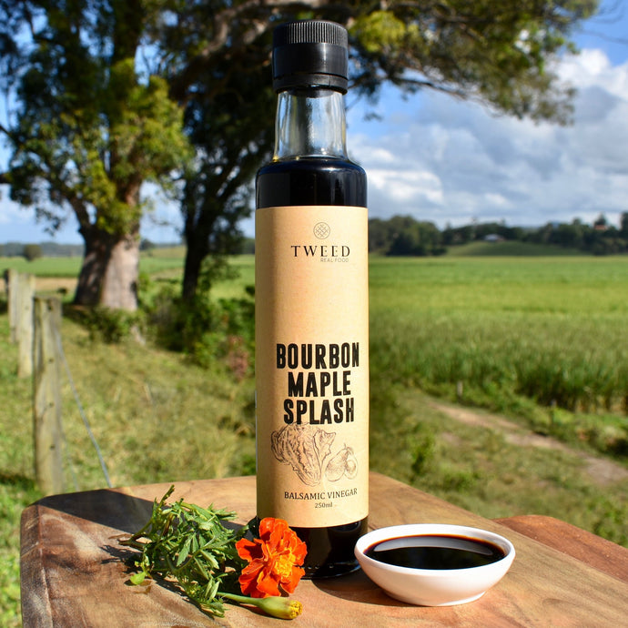 Create a perfect marinade for beef, chicken or pork. Mix it with sauce, maple or honey to baste on chicken wings. Drizzle to top salads or cheese, or add depth of flavour to low and slow cooked meals.  100% Australian made and owned.  Ingredients Caramelised Sugar, Australian Red Wine Vinegar, Natural Maple Extract, Natural Bourbon Extract