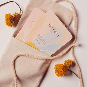The Peaceful Mama Card Bundle is the perfect gift set for YOU, or any new, or seasoned Mama ~ to journey through Motherhood  Included with each Bundle is:  - A Pack of 33 Peaceful Mama Cards  - A Handmade Organic-Linen carry bag  - A Handcrafted Pinewood Stand