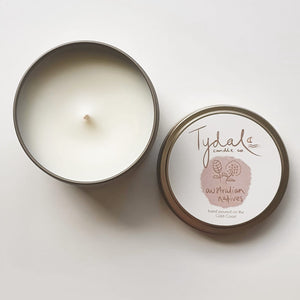 Australian Natives Tin Candle - A wild, native aroma with hints of citrus, pine and eucalyptus.
