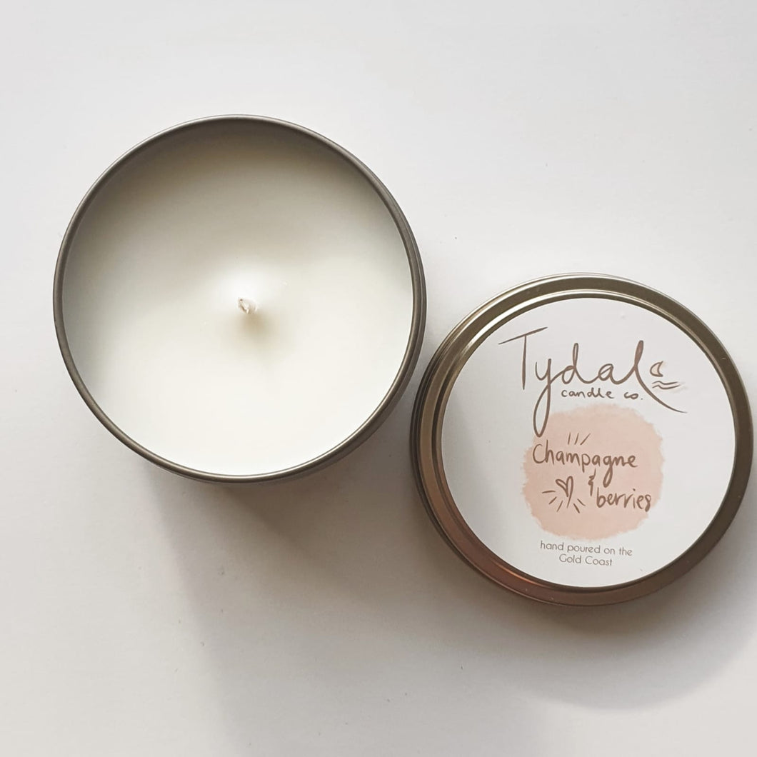 A fruity, floral blend of raspberries & strawberries with hints of champagne and roses. A sweet aroma, perfect for any social setting or lifting your spirits. A fun, flirty aroma.  Burning time is approximately 16 hours.