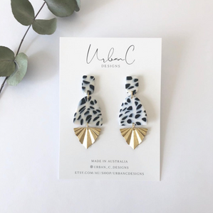 These handmade stud earrings from Urban C Designs are one of a kind and uniquely made meaning no two are the same.